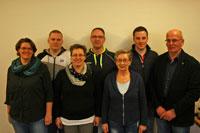 Inga Teckentrup (JAS), Michael Witeck (SV NRW), Beate Heck (1. Vorsitzende JAS) , Lars Diestelhorst (JAS), Christel Ossenberg (JAS), Sebastian Maurer (JAS), Burkhard Schröder (1. Vorsitzender SV OWL)